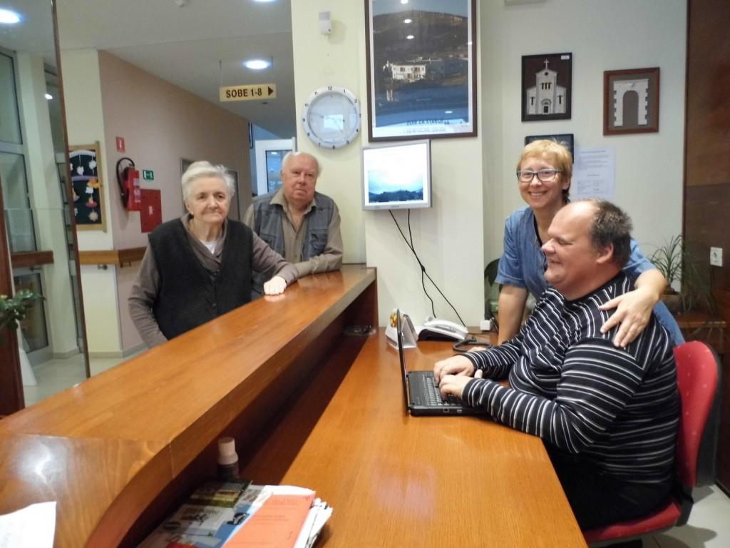 monitor sa meteo podacima i volonter Damir Ugrin